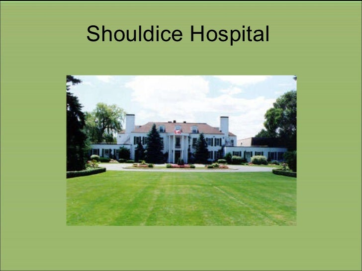 shouldice hospital History shouldice was founded in 1945 by dr earle shouldice while private hospitals are not allowed under ontario's private hospitals act, shouldice is one of seven private hospitals in the province grandfathered under the act.