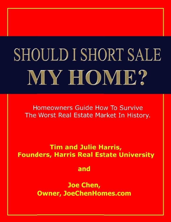 Should I Short Sale My Home Ebook