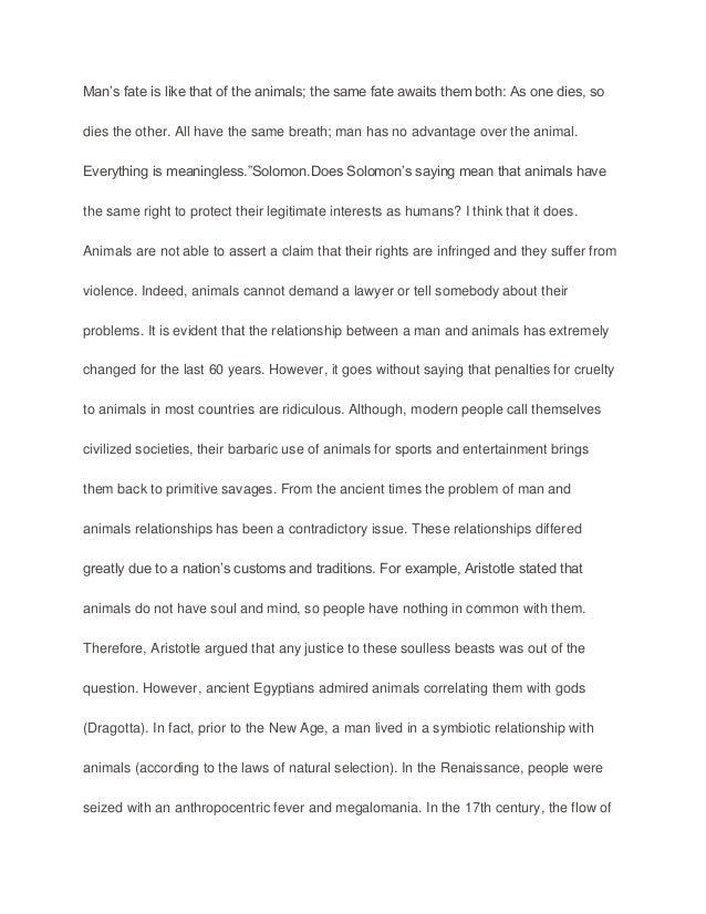 Uses of animals essay