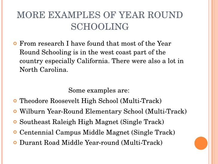 year round school argumentative essay Senior year of school regular school vs year-round schooling year round school: an annual mistake year round school essay time of year two year v four year education the bomb heard 'round the world : a research essay on the manhattan pr year round education year round schooling measuring gender specific differences in test anxiety between.