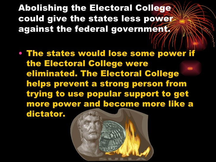 the origin of electoral college essay The green papers: history this essay will be an attempt to- in chronological sequence of the various developments in the history of the electoral college.