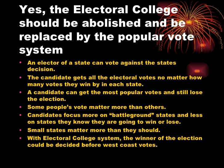 should the electoral college be abolished research paper