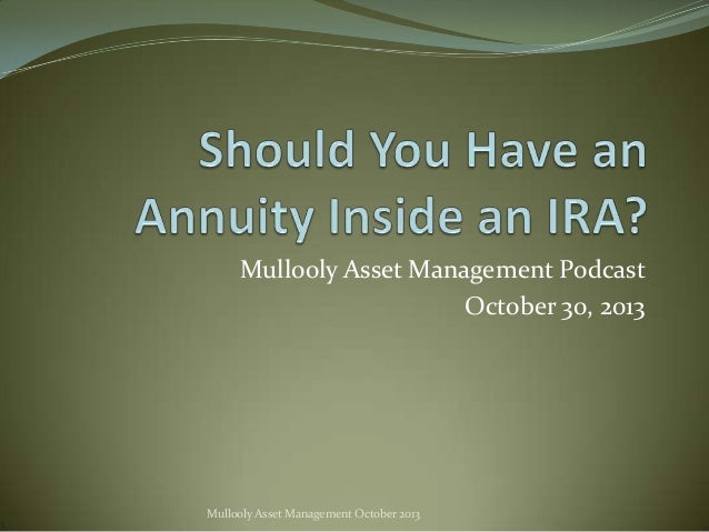 Mullooly Asset Management Podcast October 30, 2013  Mullooly Asset Management October 2013