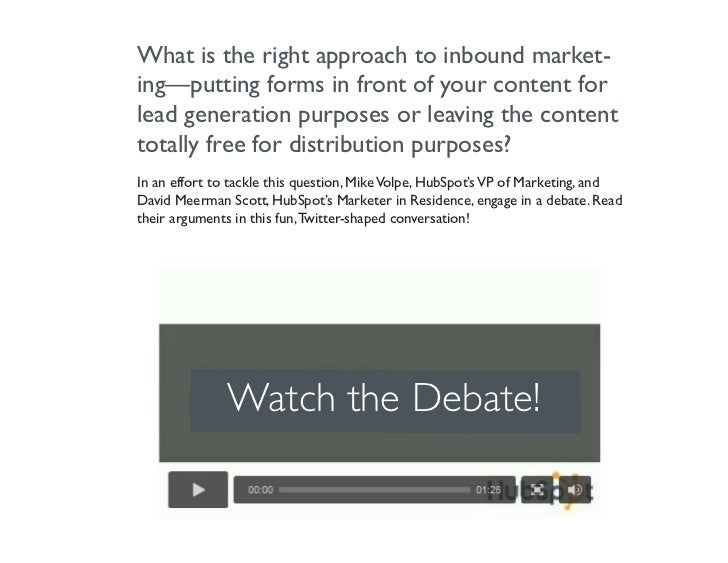 Should Your Content Be Behind Forms? [Debate] Slide 2