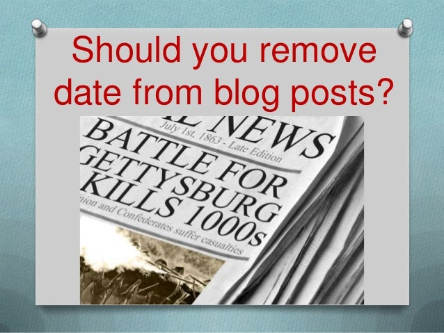 Should you removedate from blog posts?