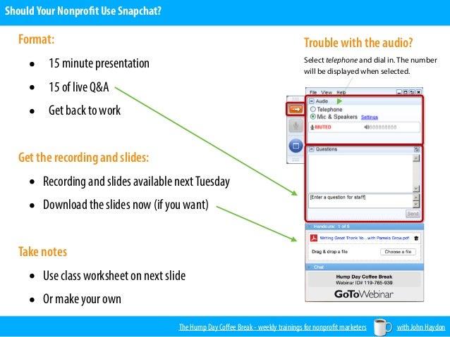 Should Your Nonprofit use Snapchat? Slide 2