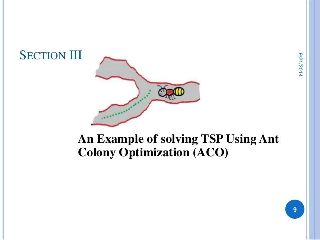 Show Ant Colony Optimization For Solving The Traveling