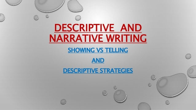 showing vs telling and descriptive writing strategies descriptive and narrative writing showing vs telling and descriptive strategies