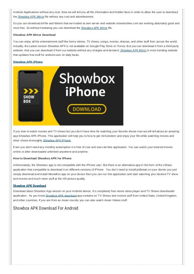 free showbox apk download
