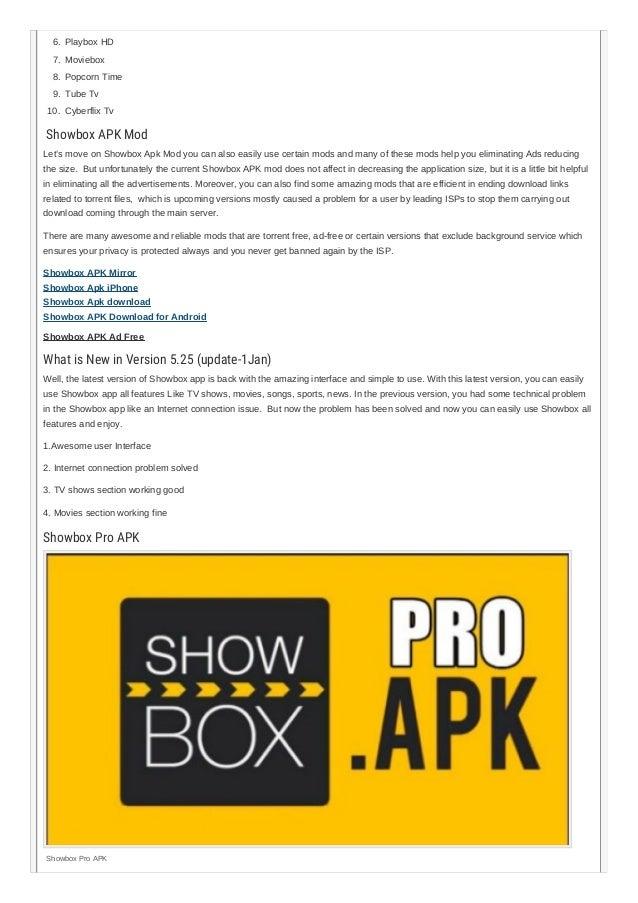 Showbox APK Free Download