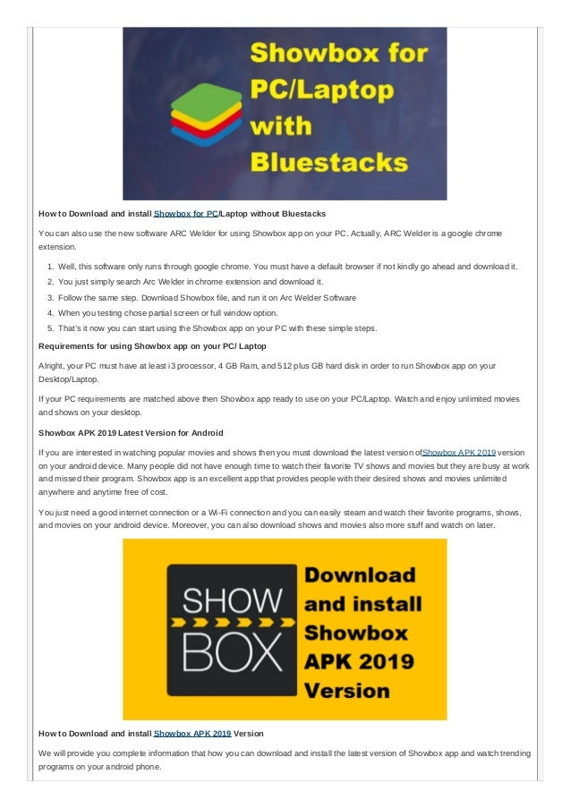 show box apk for pc