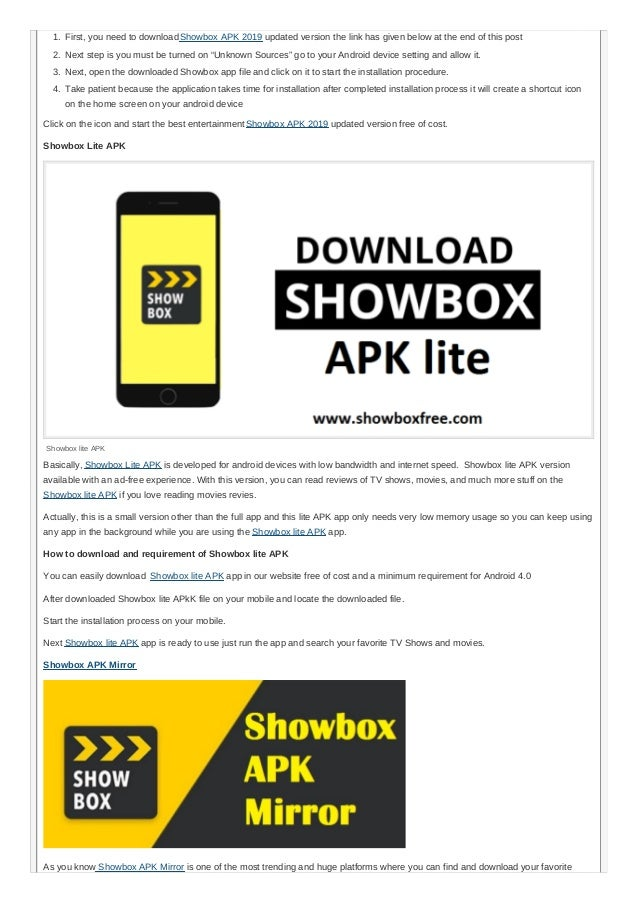 Showbox APK Free Download