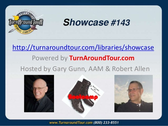 Showcase #143 http://turnaroundtour.com/libraries/showcase Powered by TurnAroundTour.com Hosted by Gary Gunn, AAM & Robert...