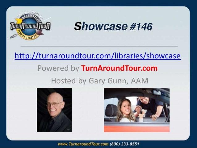 Showcase #146 http://turnaroundtour.com/libraries/showcase Powered by TurnAroundTour.com Hosted by Gary Gunn, AAM