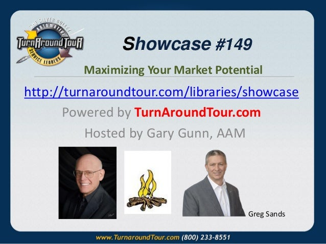 Showcase #149 Maximizing Your Market Potential  http://turnaroundtour.com/libraries/showcase Powered by TurnAroundTour.com...