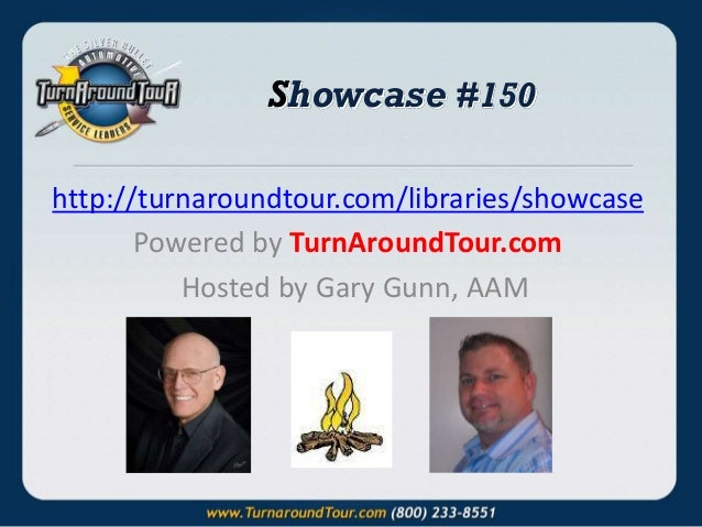 Showcase #150 http://turnaroundtour.com/libraries/showcase Powered by TurnAroundTour.com Hosted by Gary Gunn, AAM