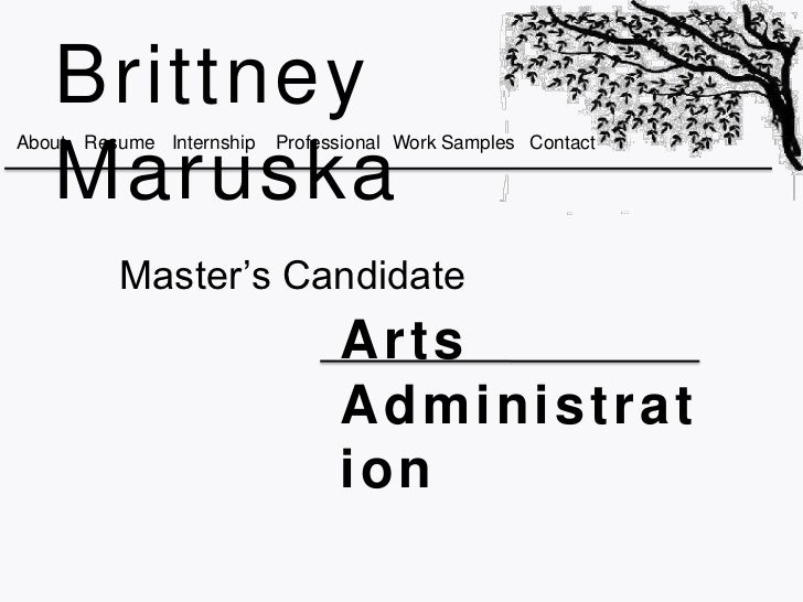 BrittneyAbout Resume Internship   Professional Work Samples Contact   Maruska         Master's Candidate                  ...