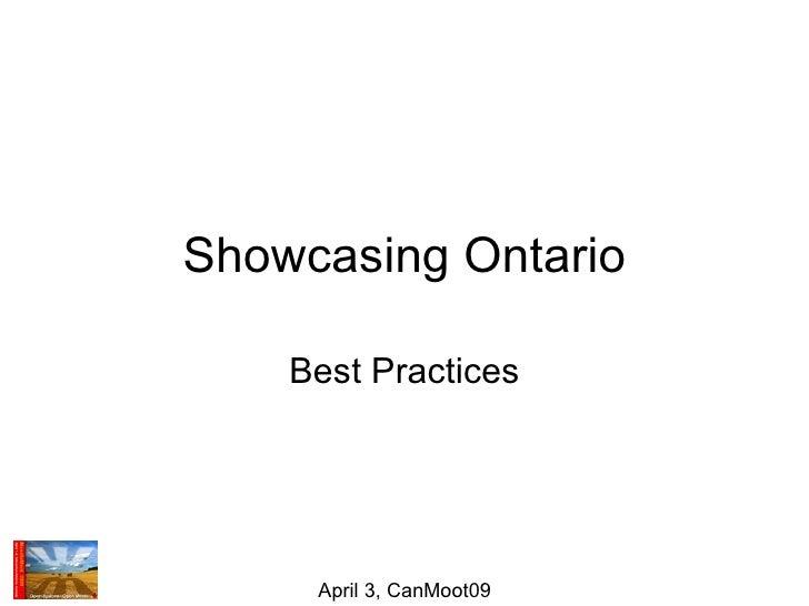Showcasing Ontario Best Practices