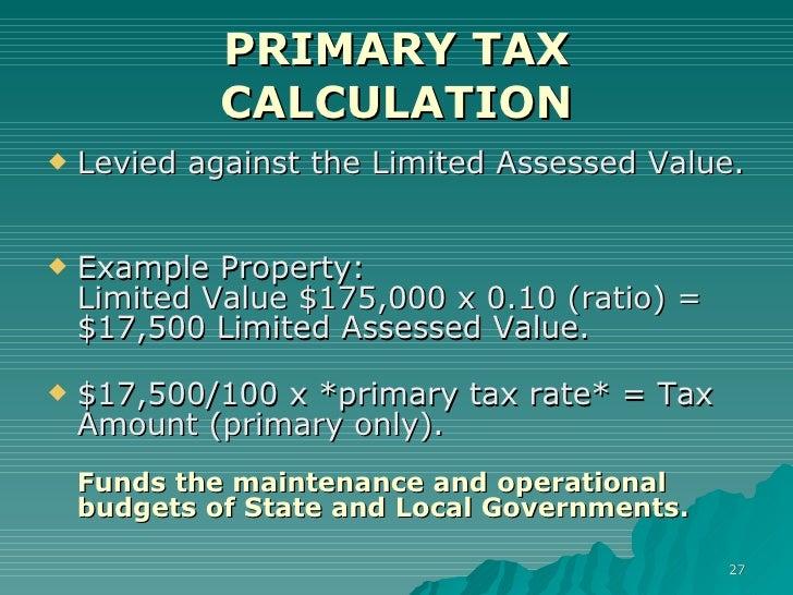 Arizona State Aid Property Tax