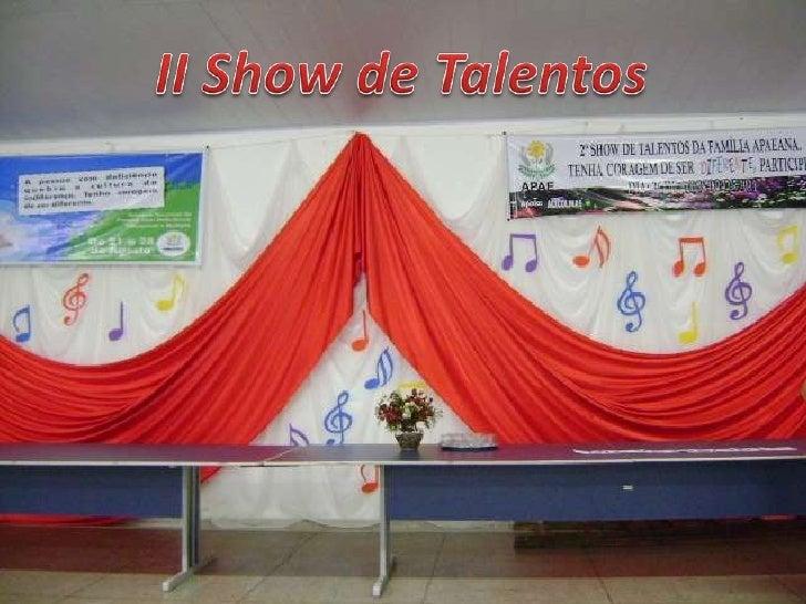 II Show de Talentos<br />