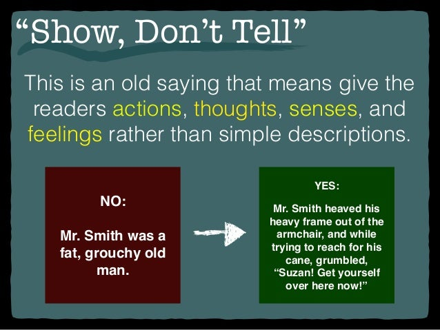 Quot Show Don T Tell Quot 2