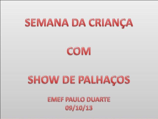 SHOW DO PALHAÇO