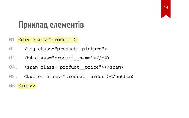 "<div class=""product""> </div> Приклад елементів <img class=""product__picture""> <h4 class=""product__name""></h4> <span class=..."
