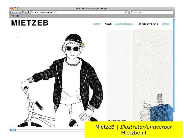 MietzeB | Illustrator/ontwerper           Mietzbe.nl