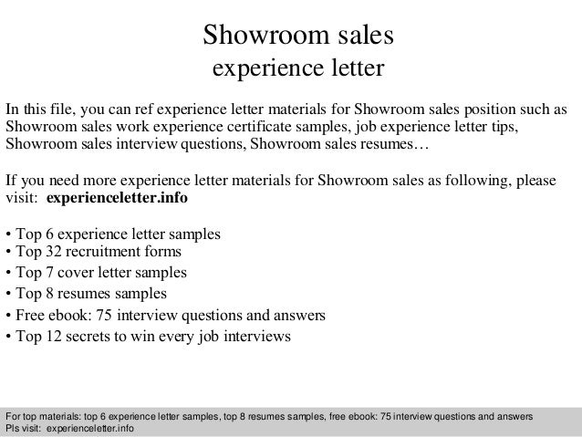 Showroom sales experience letter 1 638gcb1409222315 showroom sales experience letter in this file you can ref experience letter materials for showroom experience letter sample yadclub