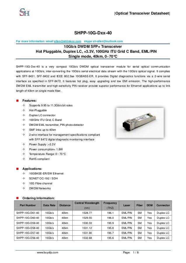 1. 25gbps sfp transceivers 850, 1310, 1550nm or cwdm, oemarket. Com.