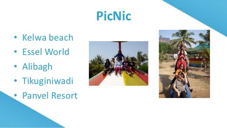 essay on school picnic to essel world Esselworld is india's largest amusement theme park it is the best place to visit for one day picnic with kids in mumbai the island of fun is located on the costal gorai village in northwest mumbai, a scenic setting injected with wholesome thrill & entertainment.