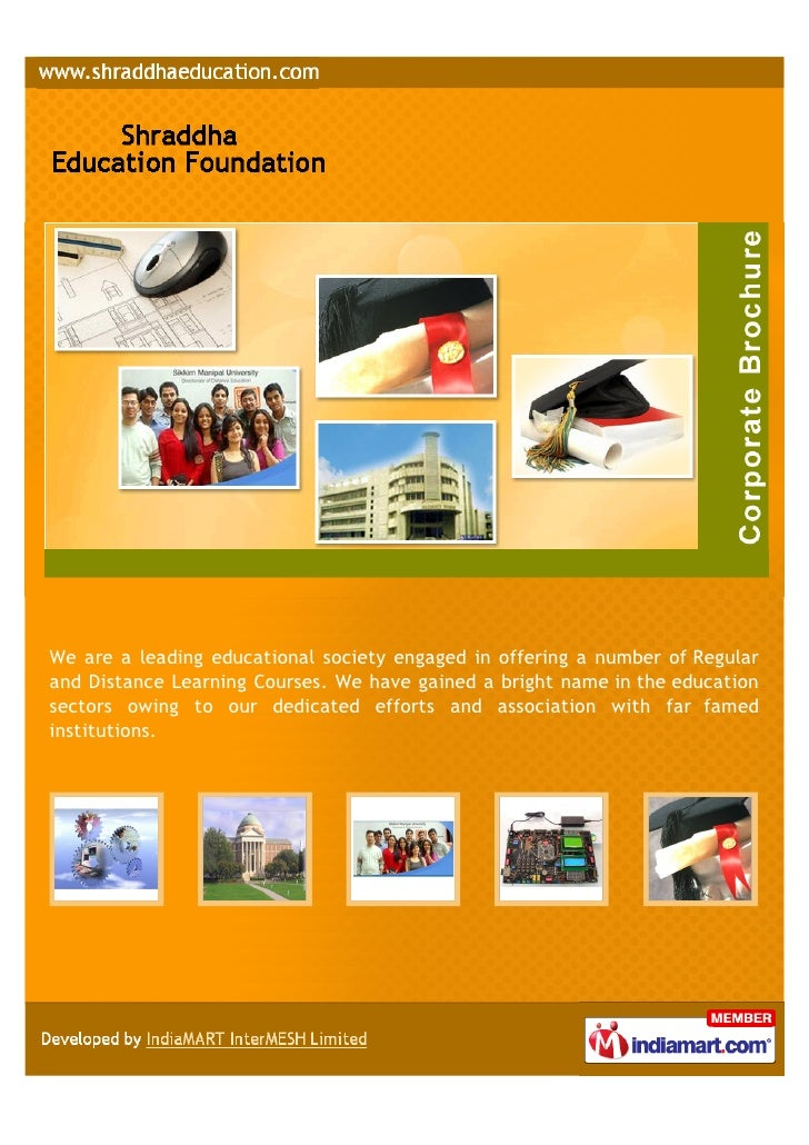 We are a leading educational society engaged in offering a number of Regularand Distance Learning Courses. We have gained ...