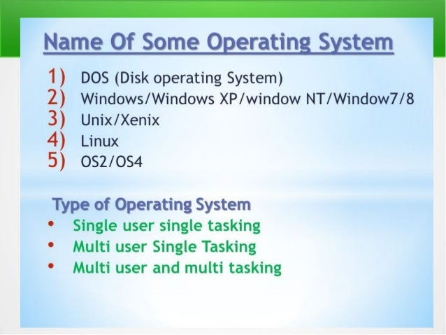 Single tasking & Multi tasking A single-tasking system can only run one program at a time, while a multi-tasking operating...