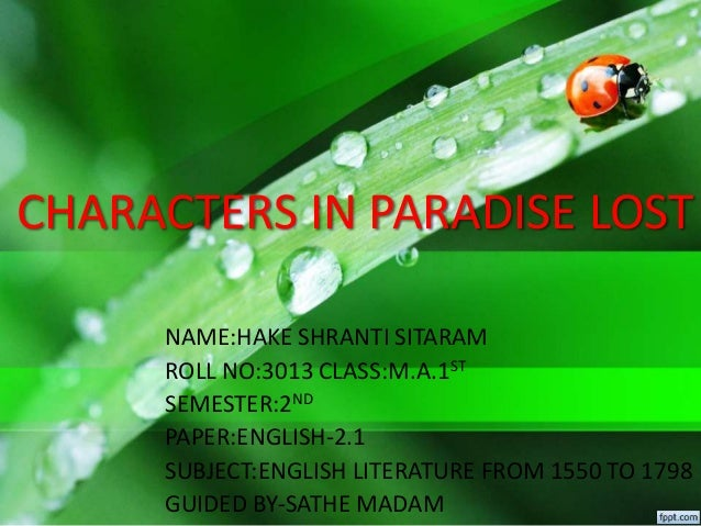 character of satan in paradise lost book 1 pdf