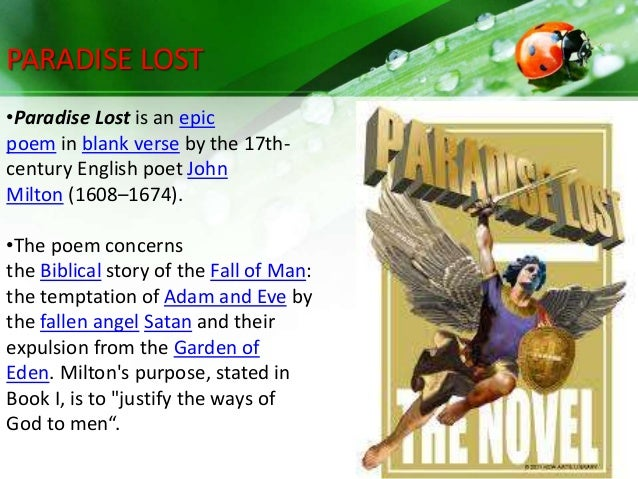 a character analysis of eve in paradise lost by john milton The best well-known work of john milton (1608-1674), paradise lost  the  poem is a retelling of the story of adam and eve from the biblical book of genesis   university, provides a detailed summary and analysis of paradise lost, book 9.