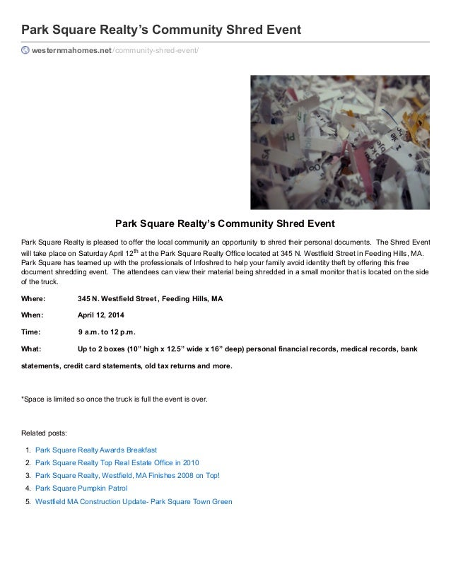 Park Square Realty's Community Shred Event westernmahomes.net /community-shred-event/  Park Square Realty's Community Shre...