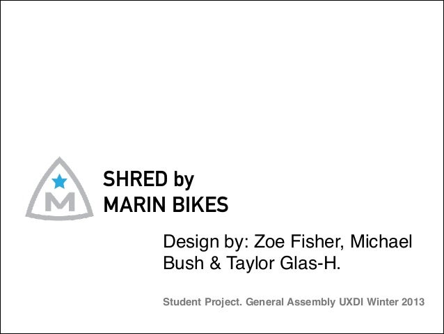SHRED by MARIN BIKES Design by: Zoe Fisher, Michael Bush & Taylor Glas-H.  Student Project. General Assembly UXDI Winter ...