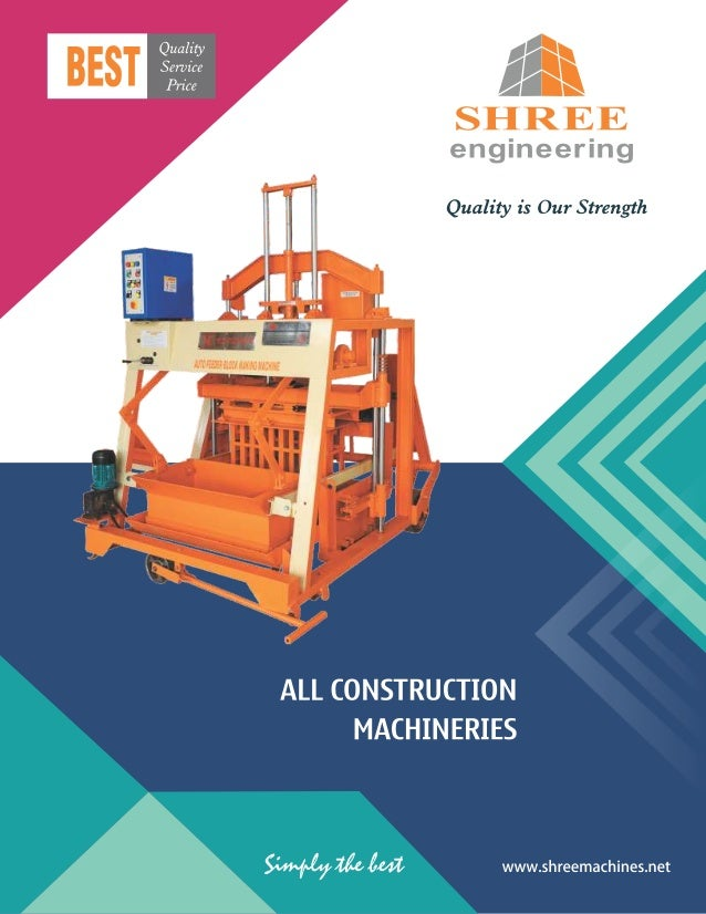 Construction Machinery And Equipment By Shree Engineering