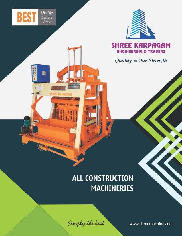 Block and Brick Making Machines By Shree Karpagam Engineering & Traders