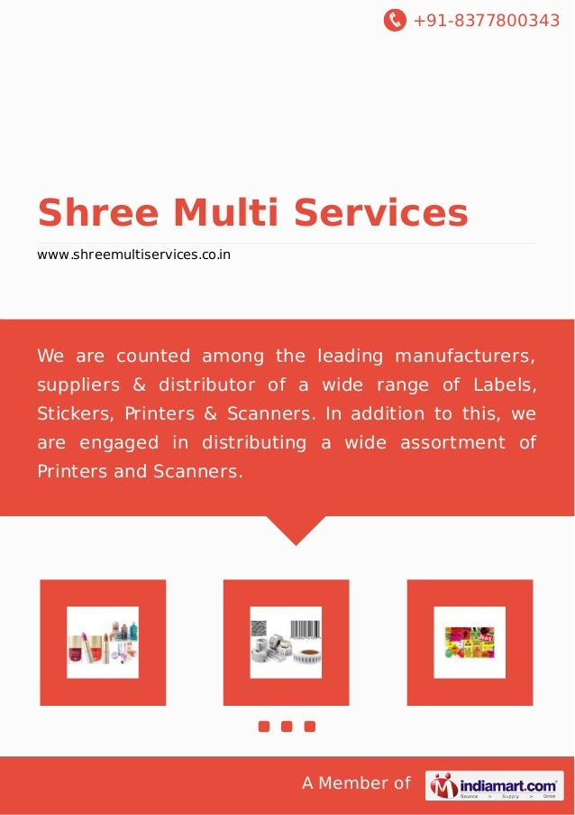 +91-8377800343  Shree Multi Services www.shreemultiservices.co.in  We are counted among the leading manufacturers, supplie...