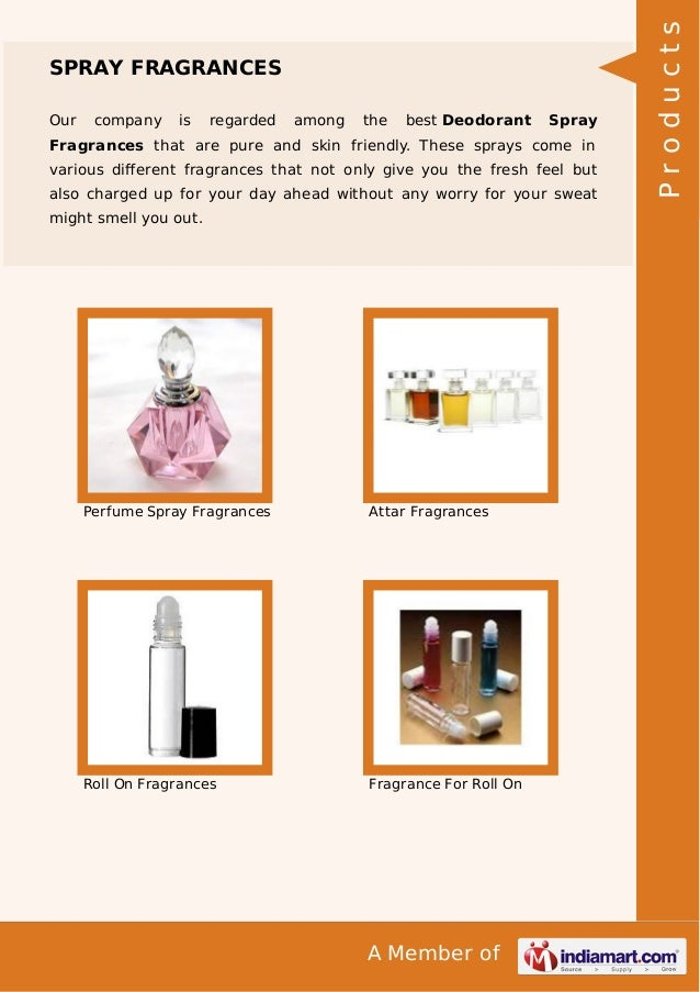 A Member of SPRAY FRAGRANCES Our company is regarded among the best Deodorant Spray Fragrances that are pure and skin frie...