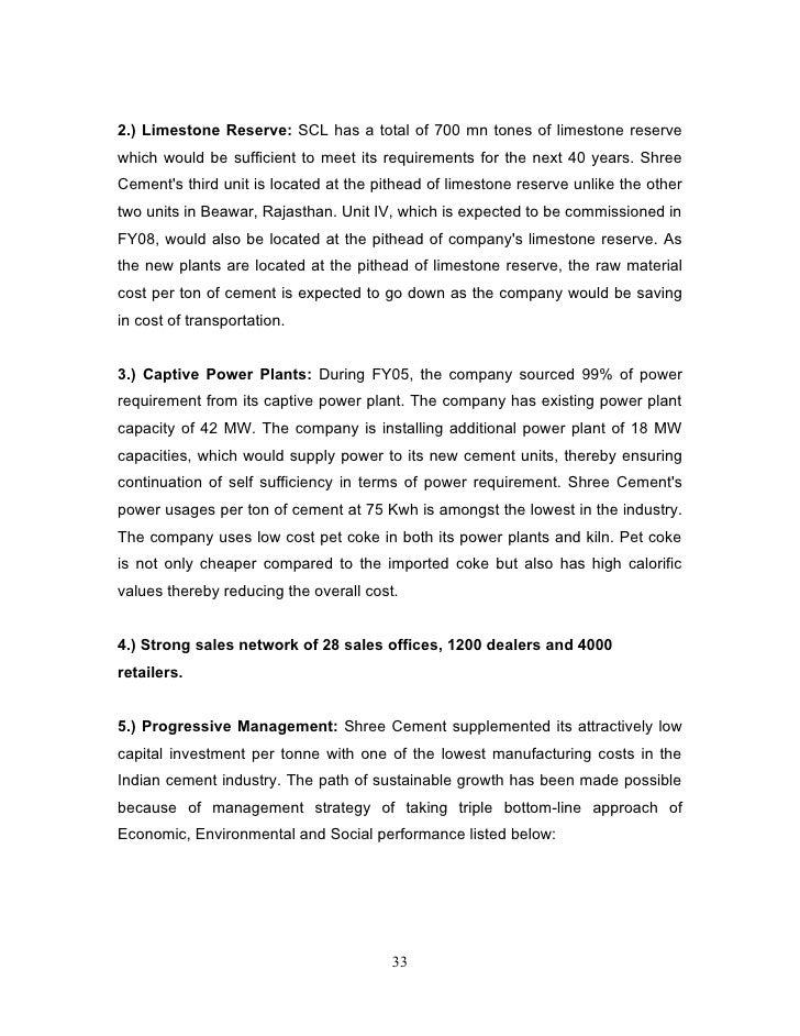 Shree Ultra Cement : Shree cement mar report