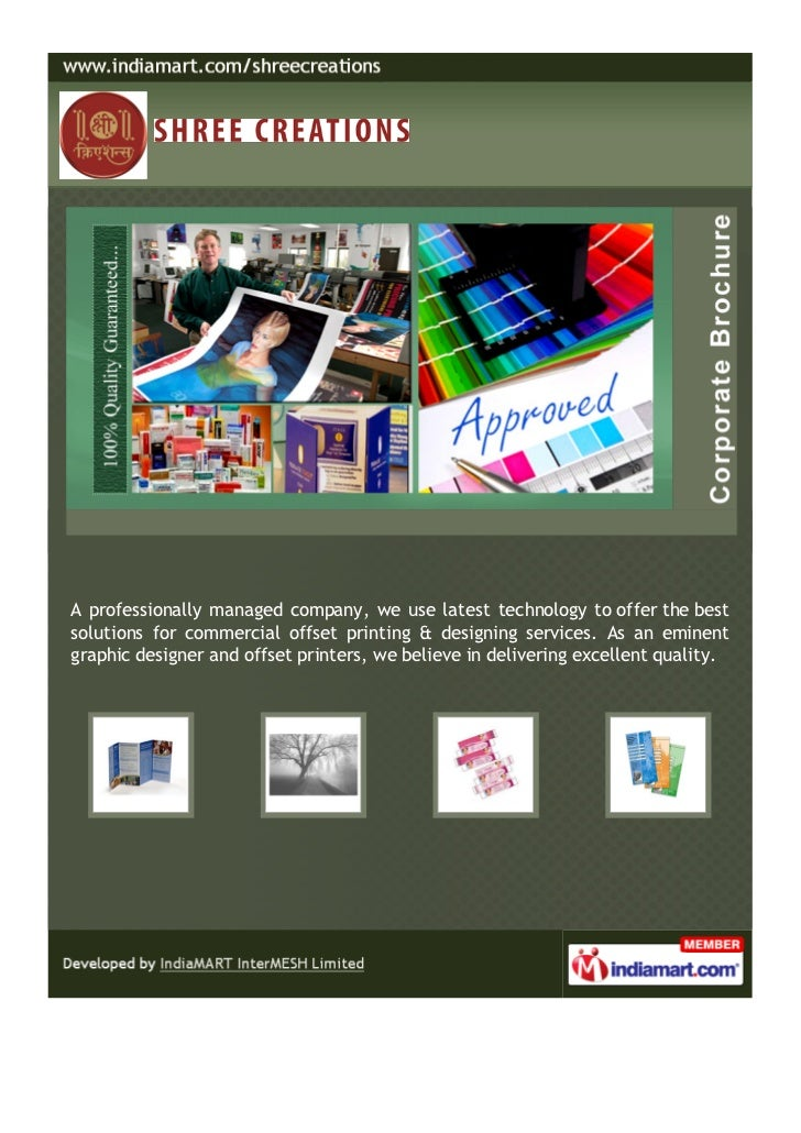 A professionally managed company, we use latest technology to offer the bestsolutions for commercial offset printing & des...
