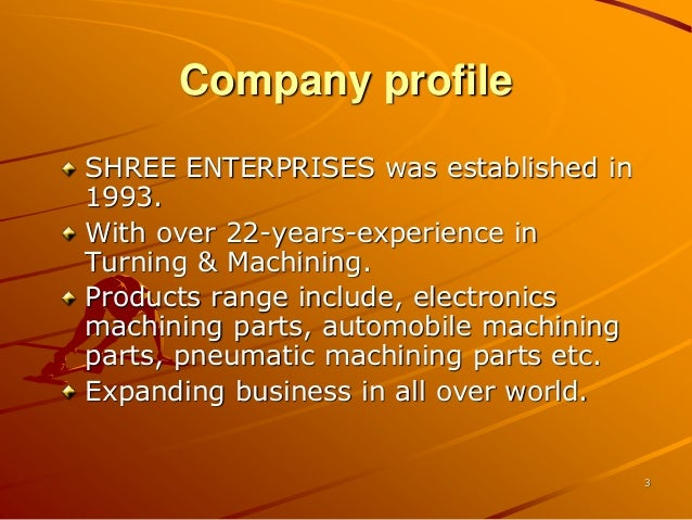 Shree enterprises 2015 Slide 3