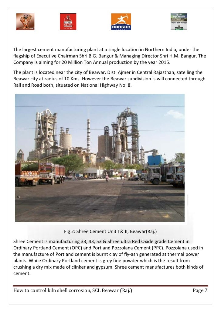 Shree Ultra Cement : How to control kiln shell corrosion report