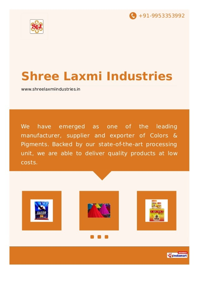 +91-9953353992 Shree Laxmi Industries www.shreelaxmiindustries.in We have emerged as one of the leading manufacturer, supp...