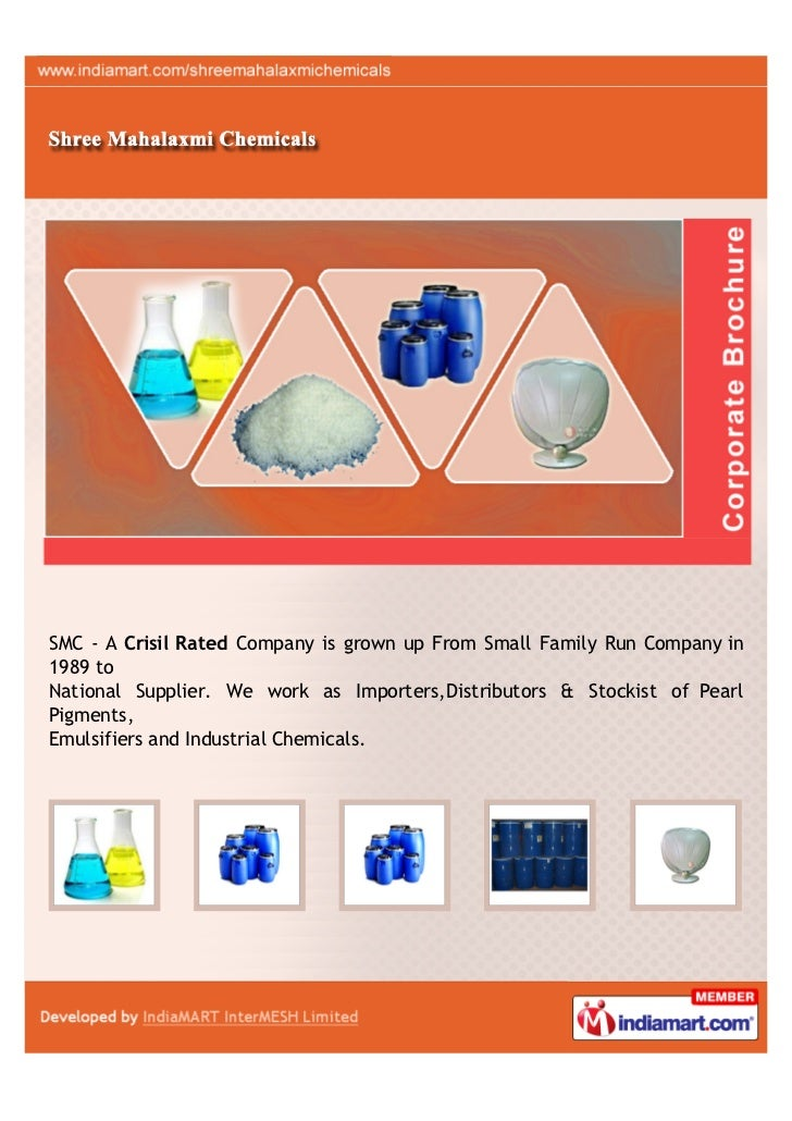 SMC - A Crisil Rated Company is grown up From Small Family Run Company in1989 toNational Supplier. We work as Importers,Di...