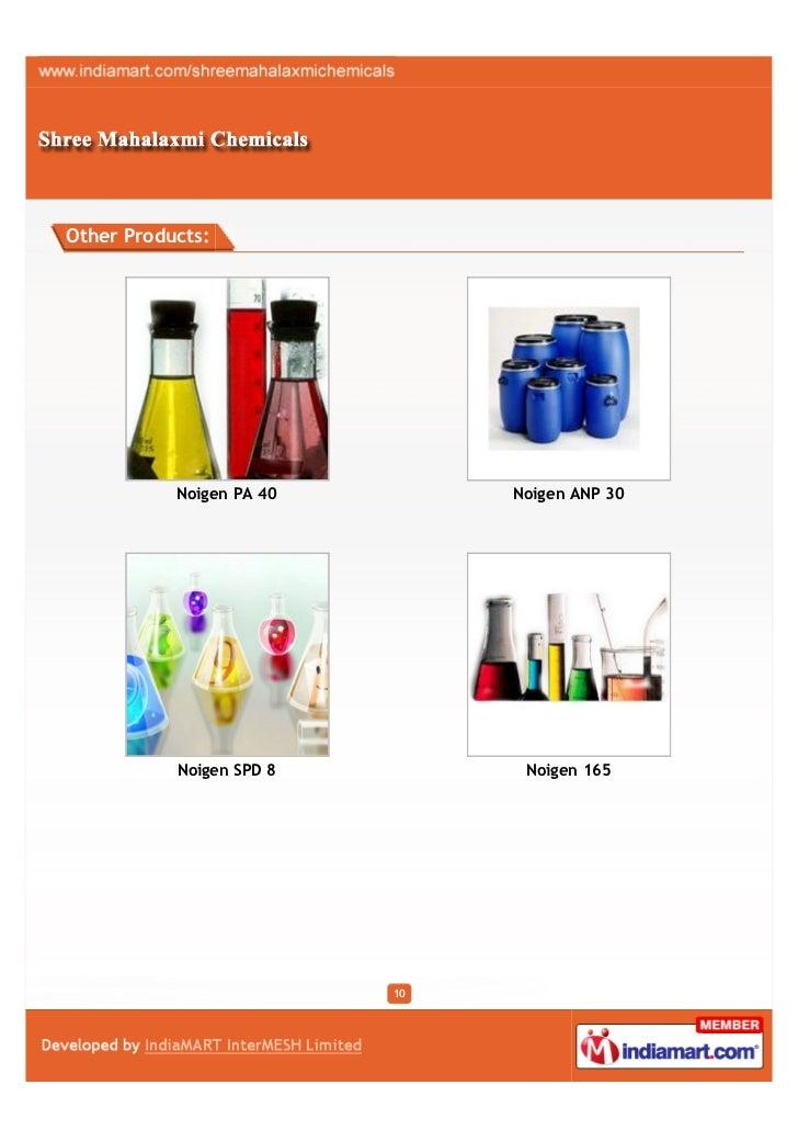 Other Products:           Noigen PA 40        Noigen ANP 30           Noigen SPD 8         Noigen 165                     ...