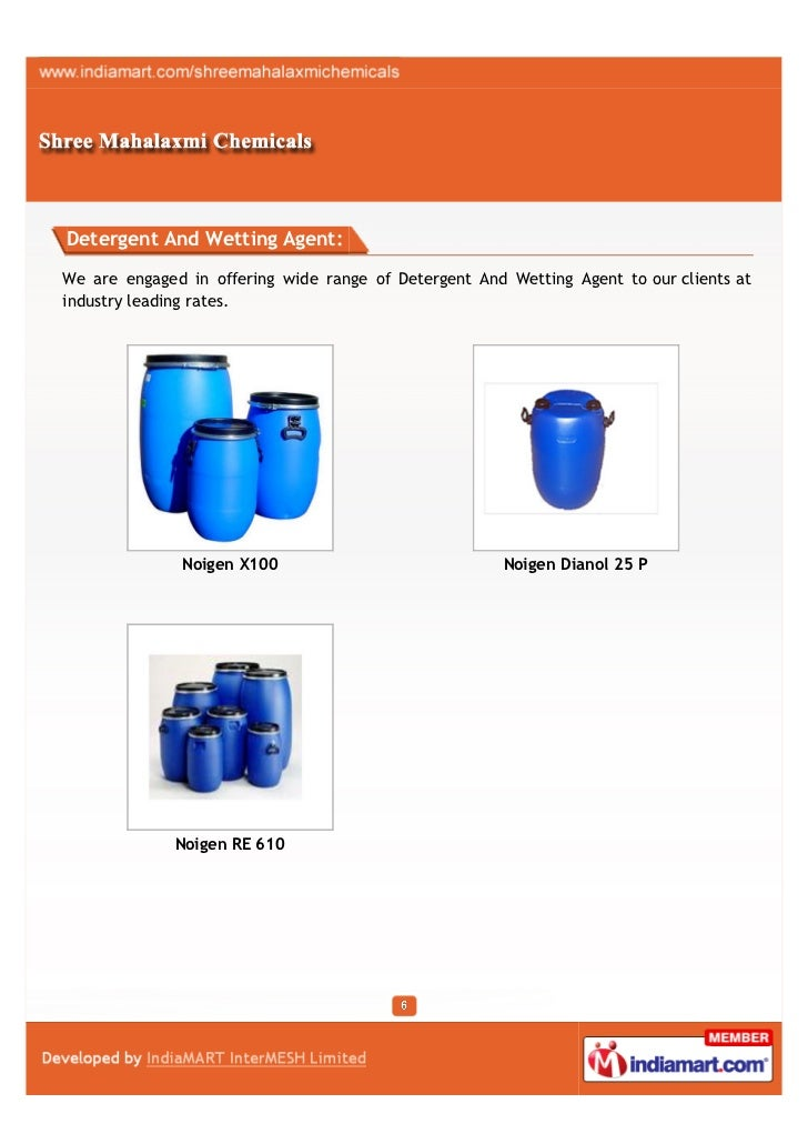 Detergent And Wetting Agent:We are engaged in offering wide range of Detergent And Wetting Agent to our clients atindustry...