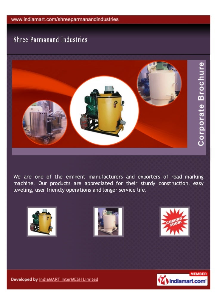 We are one of the eminent manufacturers and exporters of road markingmachine. Our products are appreciated for their sturd...